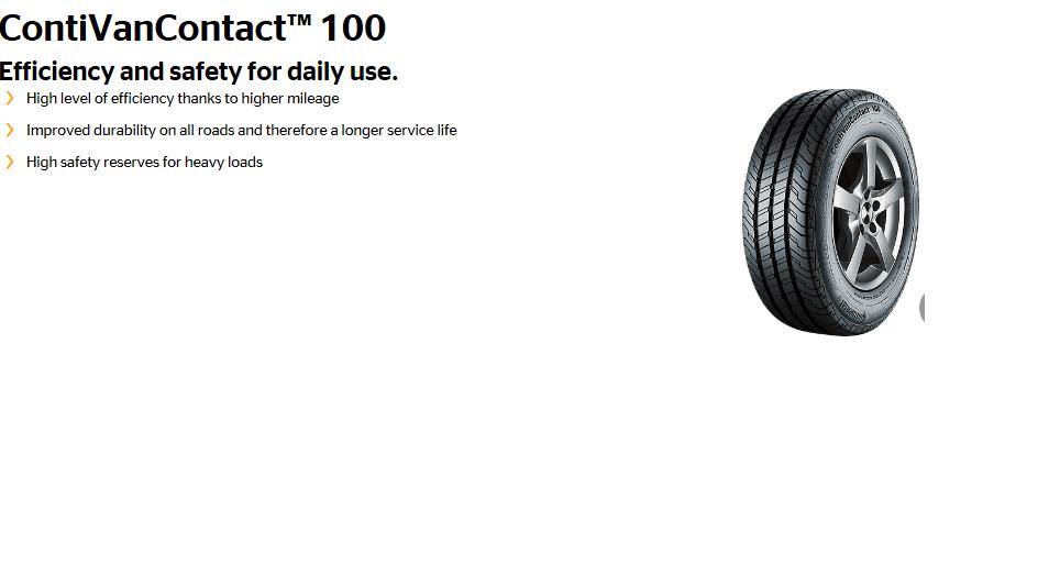 ContiVanContact 100 tyre image