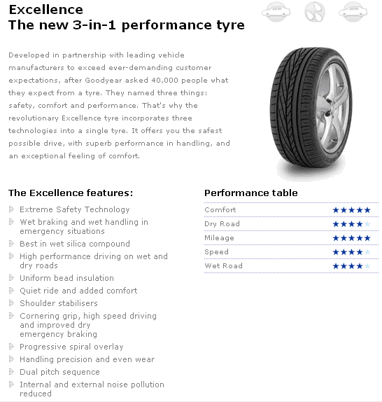 Excellence tyre image